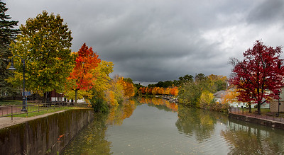 Erie Canal view from lift bridge, Fairport