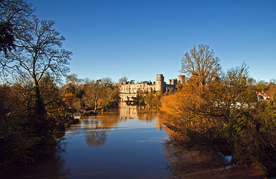 Warwick Castle on a glorious autumn morning