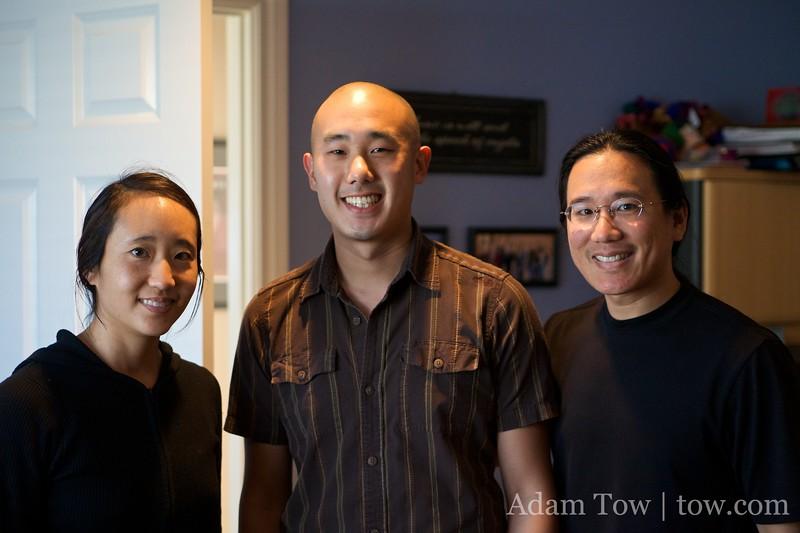 Rae, Teddy, and Adam