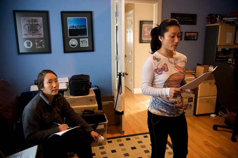Li Jing comes to do ADR work at Matt's house for Autumn Gem.