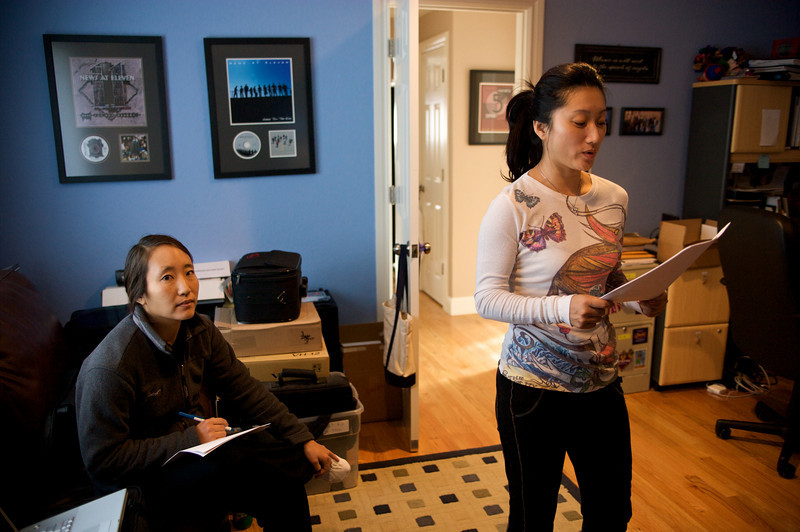 Li Jing comes to do ADR work at Matt's house for Autumn Gem.