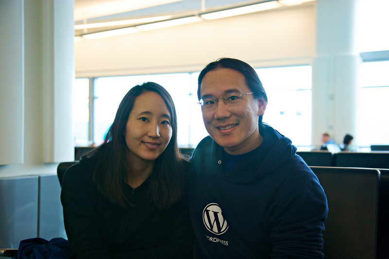 Rae and me at SFO.