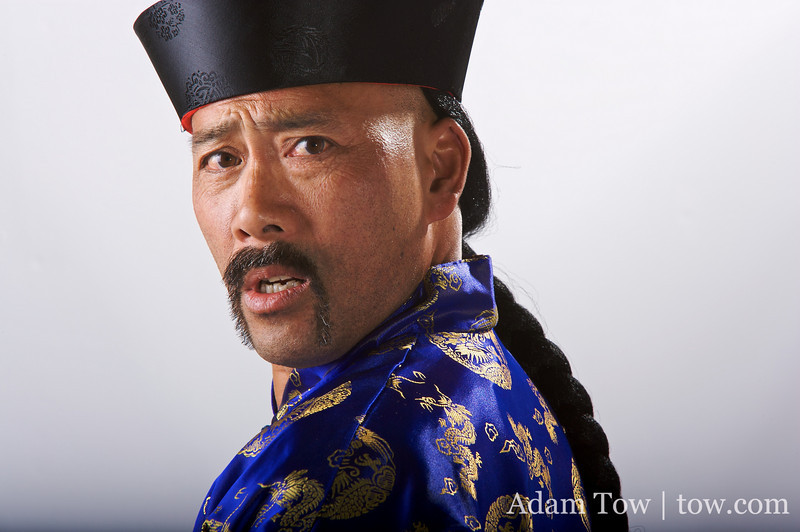Surprise on the face of a Qing Dynasty Governor