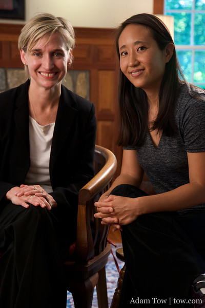 Professor Amy Dooling of Connecticut College with Rae Chang.