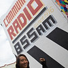 Rae outside the 3CR Community Radio Station.