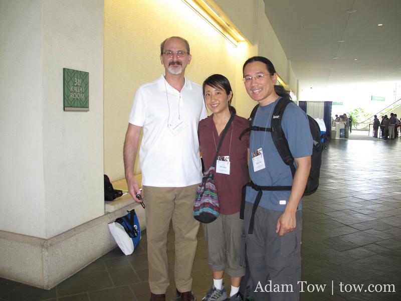 With Constantine Vaporis of UMBC.