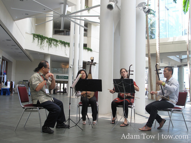 Fred Lau and his students play during the AAS Conference in Hawaii.