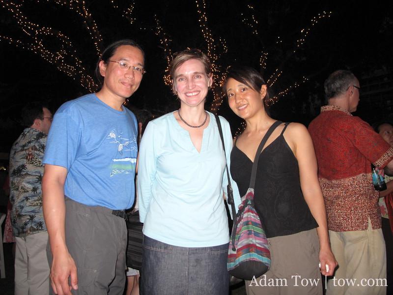 Adam and Rae with Professor Dooling.