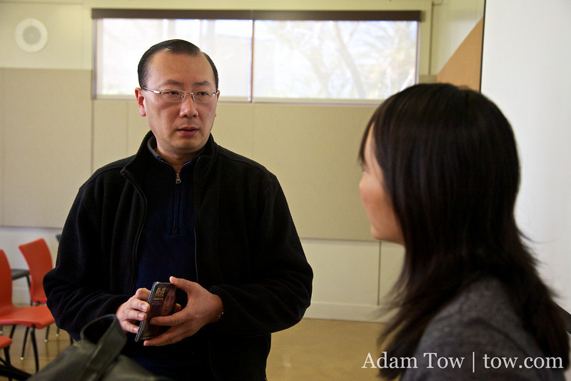 Charles talks with Rae Chang following the screening of Autumn Gem.