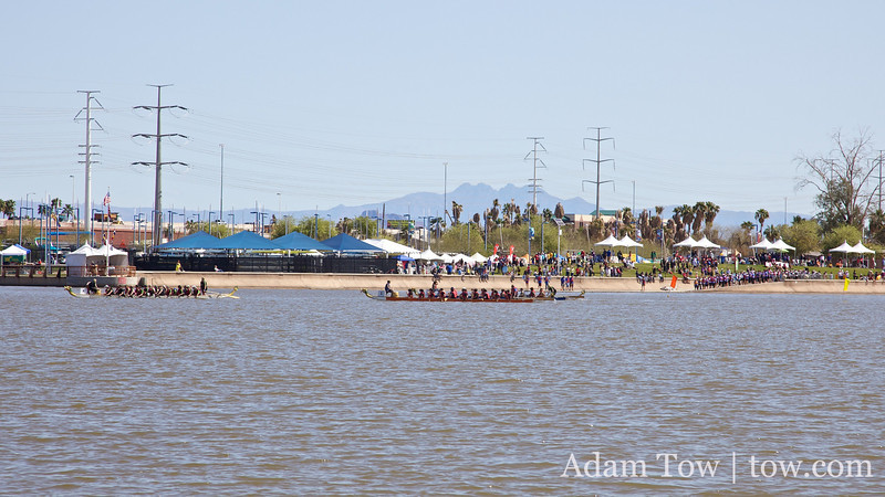 Dragon Boat racing the day of our screening.