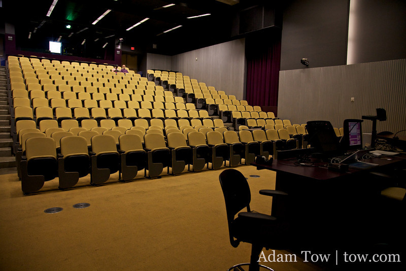 Inside the auditorium where we held our screening of Autumn Gem.