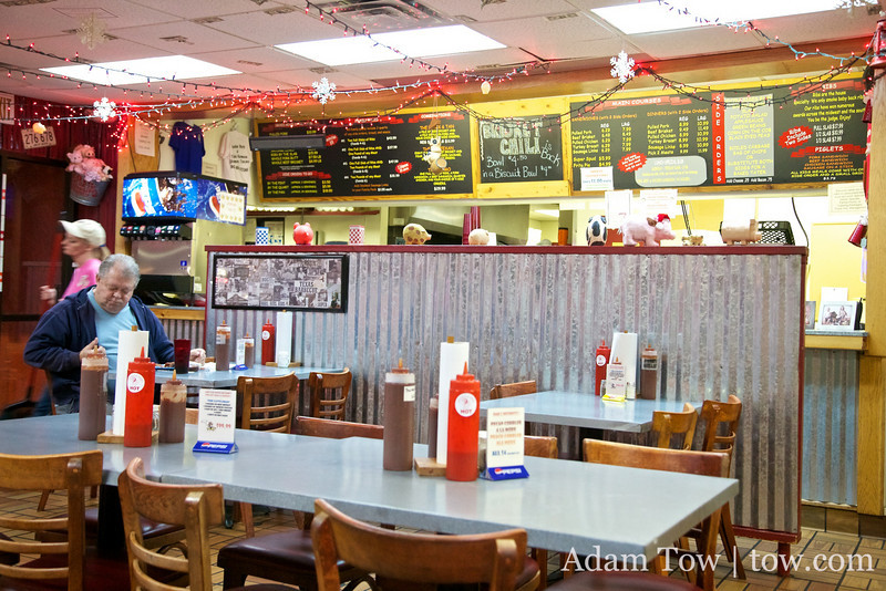 Inside Cackle and Oink in Sherman, Texas.