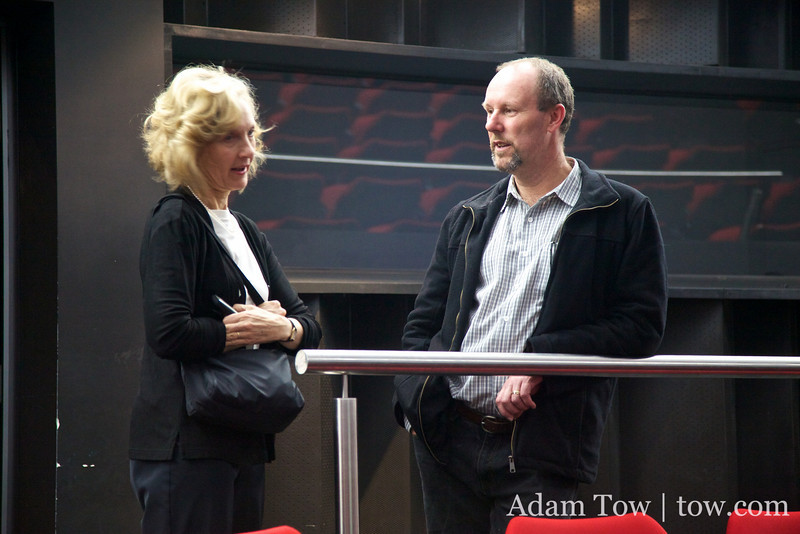Neil and Lou talk before the screening.