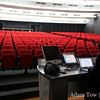 An empty auditorium awaits.