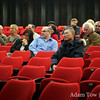 Australia-China Friendship Society members listen during the Q&A session.