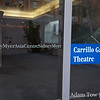 The side entrace to the Carillo Gantner Theatre.