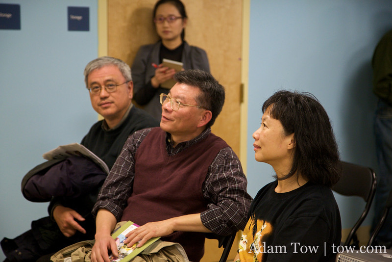 A spirited discussion among the guests at the Autumn Gem screening at the BCNC.