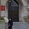 Rae stands outside the entrance to the CAS building where we screened Autumn Gem at Boston University.
