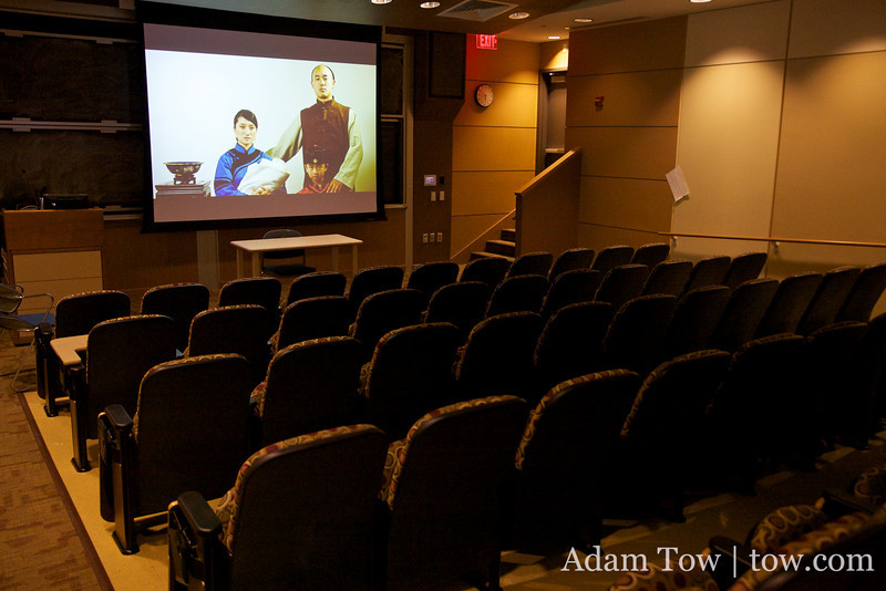 CAS B-12 had an HD projector, making for a lovely screening of Autumn Gem.
