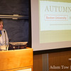 Professor Shelly Hawks introduces Autumn Gem to the assembled students and faculty at Boston University.