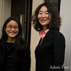 Professor Wang with a colleague.
