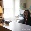 Professor Lingzhen Wang in her office at Brown University.