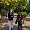 Professor Wang and Rae walking on the Brown campus.