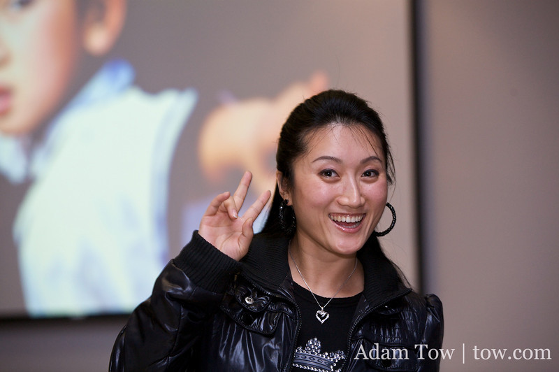 Li Jing came up from LA to attend the screening party.