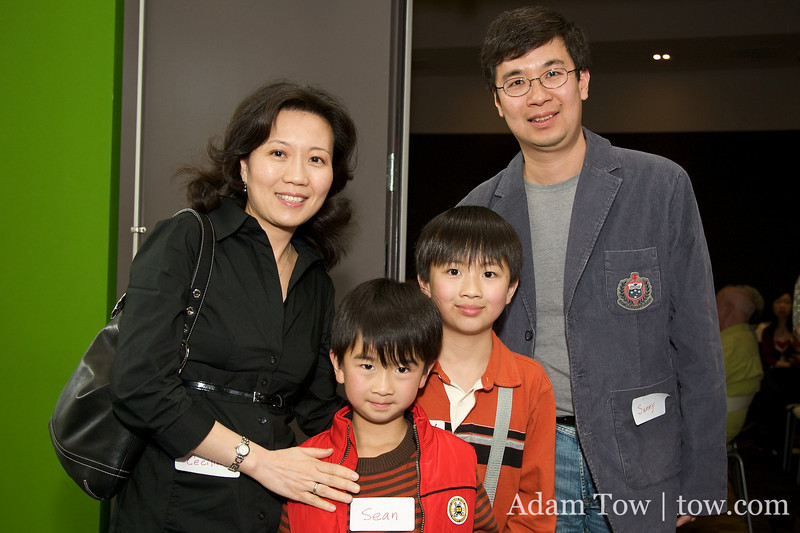 Sean Young played Qiu JIn's son in Autumn Gem. Here he is with his parents and brother, Ryan.