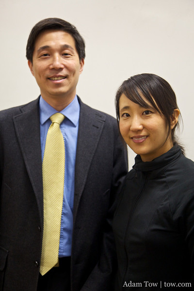 Professor Wang and Rae.