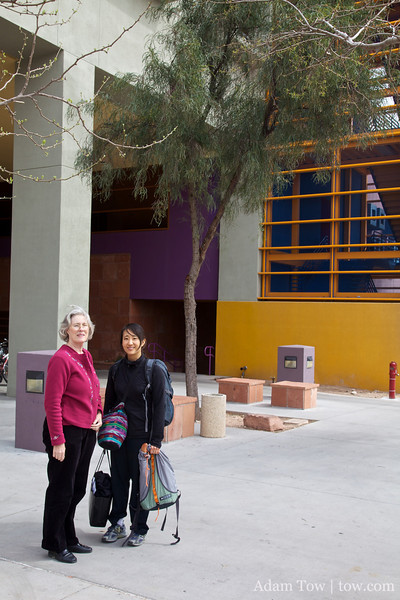 Outside the building where we screened Autumn Gem at the College of Southern Nevada.
