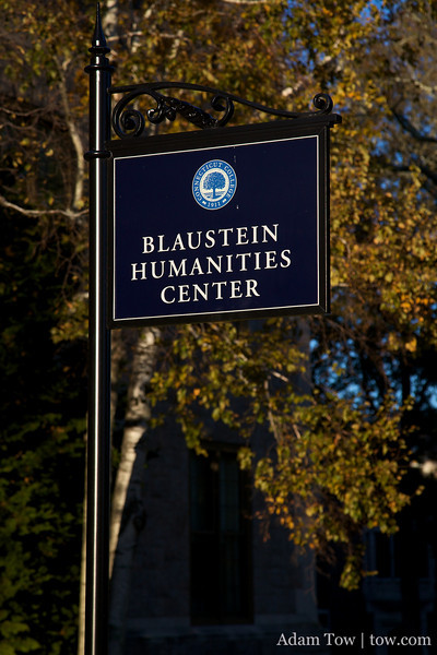 Blaustein Humanities Center.