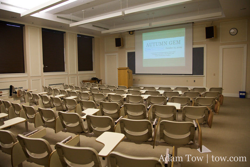 Ready to fill up Room 210 at Blaustein Humanities Center.