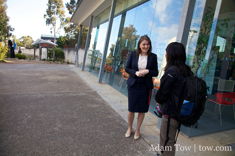 Deakin University is about 25 years old, making it a very young university.