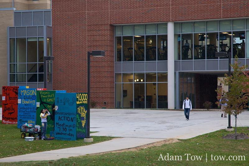 Displays at George Mason University.