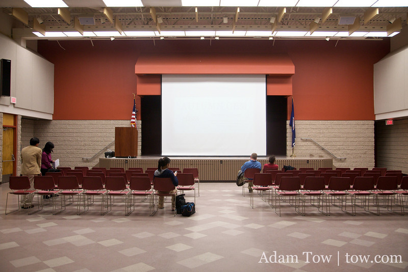 At the Student Union 2 where we held our screening of Autumn Gem at George Mason University.