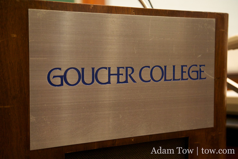Goucher College logo.