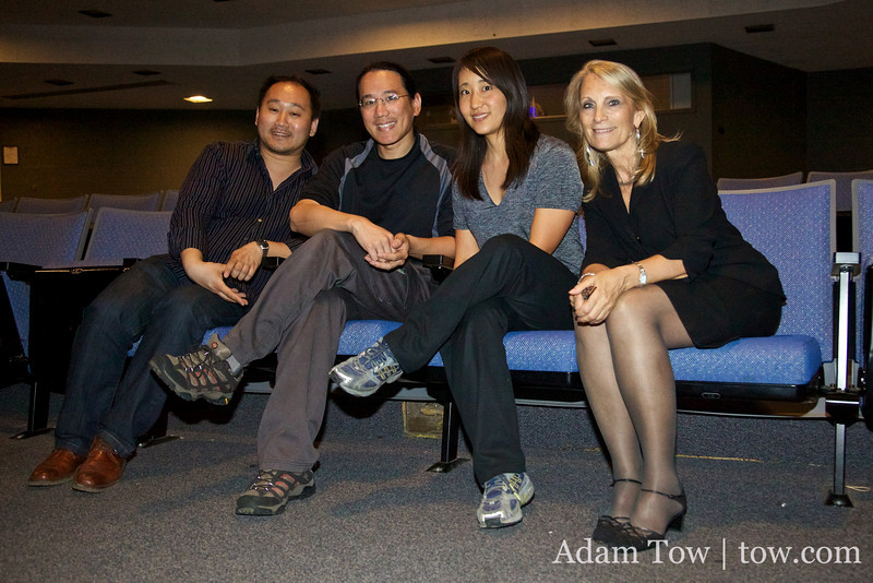 Professors Tung and Gronewold with Adam and Rae.