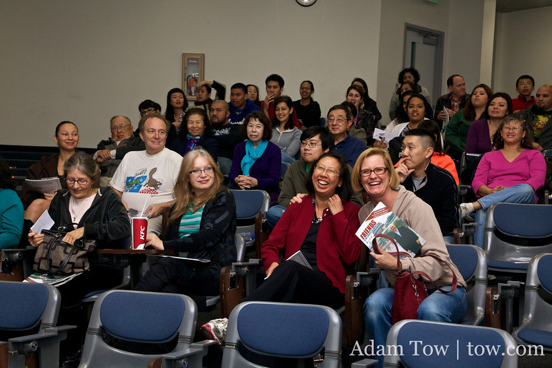 The crowd at the Miramar College screening.