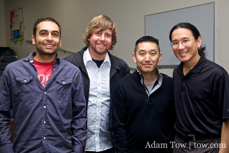 Spreckels mini-reunion: Gody, Jon, Roderic and Adam.