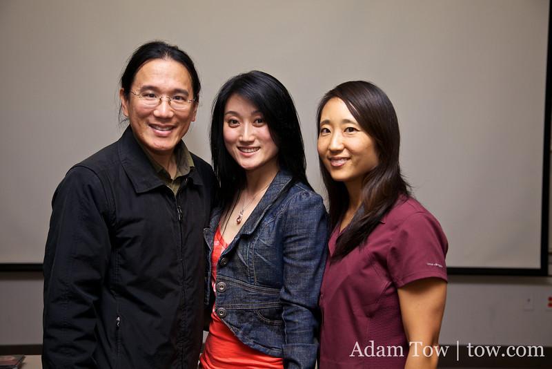 Adam and Rae with actress Li Jing.