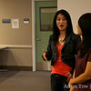 Li Jing, the actress who played Qiu Jin, was present at the screening in Monterey Park.
