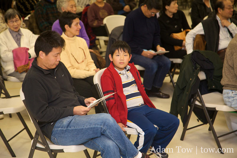 Young and old were present at the screening.