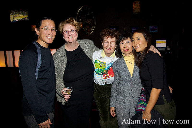Adam and Rae with the organizers of the New York screening of Autumn Gem: Terry, Peggy and Ann.