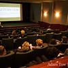 Peggy gives the introductory remarks at the Autumn Gem screening at the Tribeca Film Center in New York.