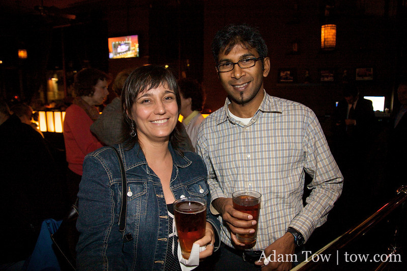 Gaelen and Anand in the Greenwich Tavern in New York.