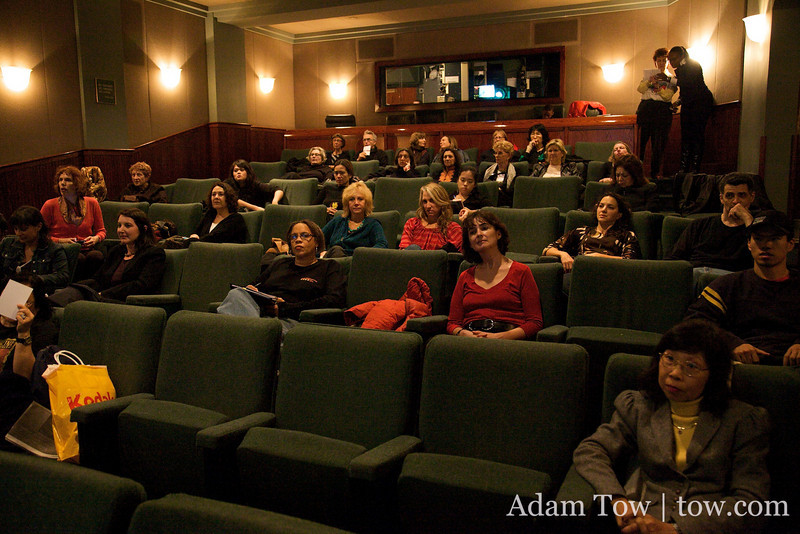Right before the screening of Autumn Gem at the Tribeca Film Center.