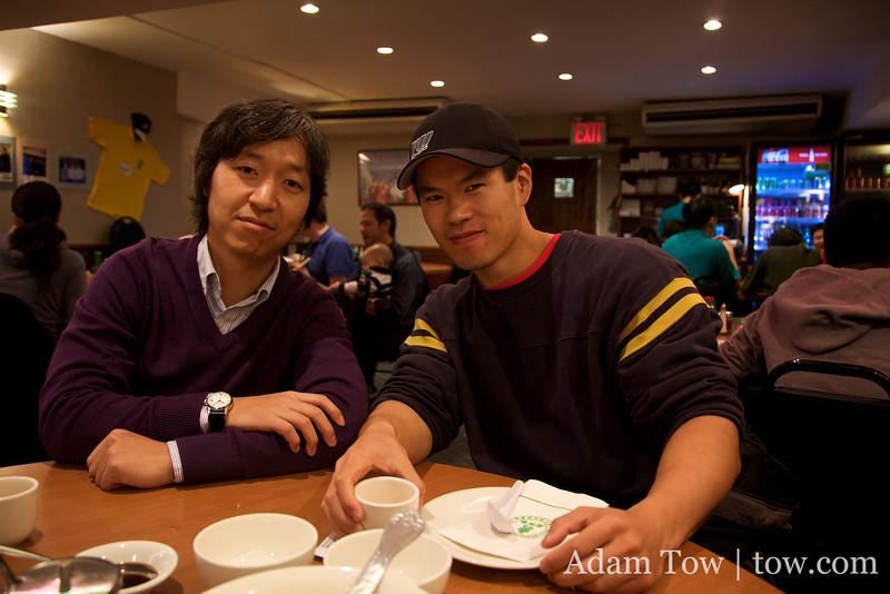 Joon-Mo and Sid at Joe's Shanghai.