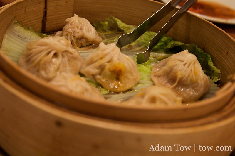 The famous dumplings from Joe's Shanghai. Yes, there were indeed very good!