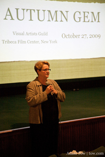 Terry thanks everyone for coming to the Autumn Gem screening at the Tribeca Film Center.